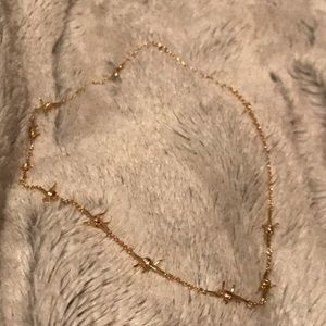 Barbed Wire Gold Choker Necklace